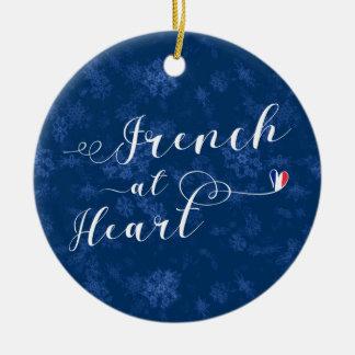 Francês no coração, ornamento da árvore de Natal,