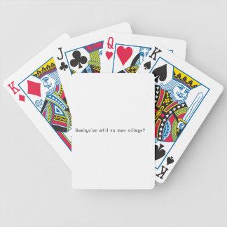 Francês-Vila Baralhos De Pôquer