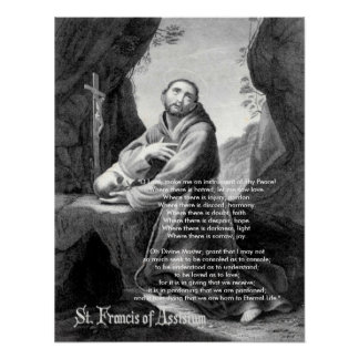 """Francis, de """"senhor O, faz-me um instrumento do Th Pôster"""