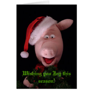 Francis o cartão de Natal do porco
