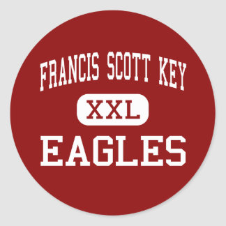 Francis Scott Key - Eagles - Silver Spring Adesivos Redondos