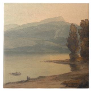Francis Towne - Windermere no por do sol