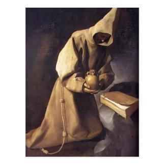 Francisco de Zurbaran- Meditação de St Francis Cartões Postais