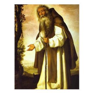 Francisco de Zurbaran- St Anthony Dispirited Cartões Postais