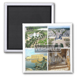 Franco * France - o palácio de Versalhes Ímã Quadrado