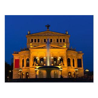 Francoforte - ópera no cartão crepuscular