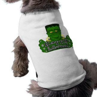 Frankie o Dia das Bruxas feliz Camisas Para Cães