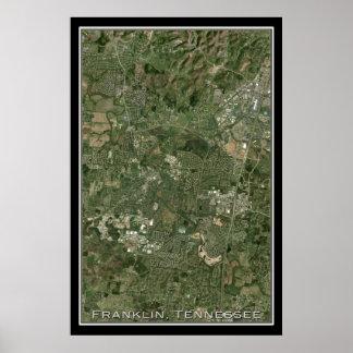 Franklin Tennessee da arte do satélite do espaço Poster