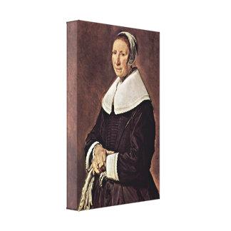 Frans Hals - mulher idosa Impressão Em Tela Canvas
