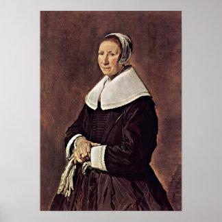 Frans Hals - mulher idosa Impressão