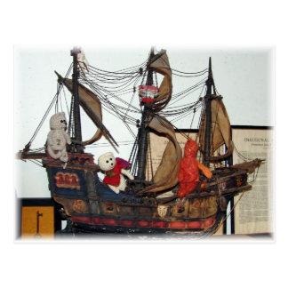 Franscious e cartão do navio de Lennart