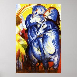 Franz Marc a torre do poster azul dos cavalos Pôster