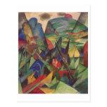 Franz Marc - Fox vermelho das canvas do óleo das r Cartões Postais