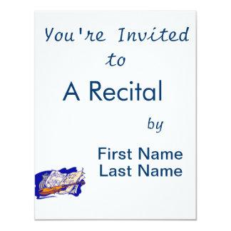 frasco azul ainda life.png da música do violino convite 10.79 x 13.97cm