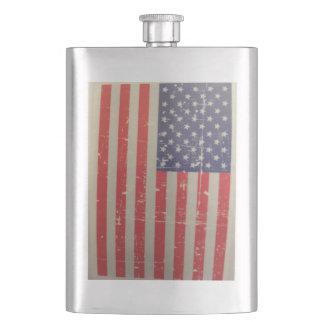 Frasco De Bebida Bandeira americana resistida, afligida dos EUA