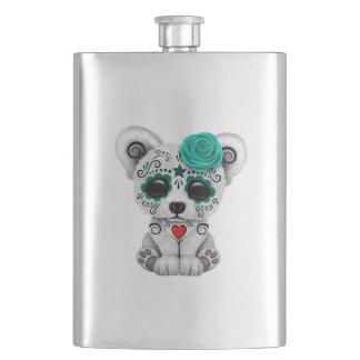 Frasco De Bebida Dia azul do urso polar do bebê inoperante