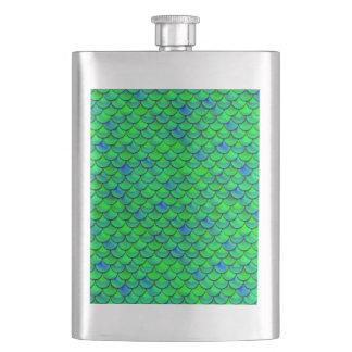 Frasco De Bebida Escalas verdes do azul de Falln