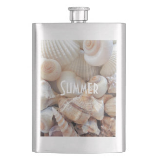 Frasco De Bebida Escudos do mar, romântico tropical exótico da