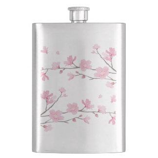 Frasco De Bebida Flor de cerejeira - fundo transparente
