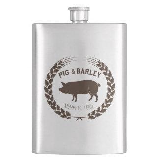 Frasco De Bebida Garrafa do porco & da cevada - aperfeiçoe para