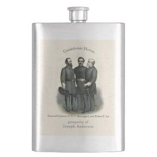 Frasco De Bebida Heróis Stonewall Beauregard Lee da guerra civil