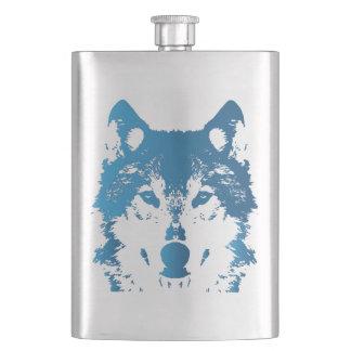 Frasco De Bebida Lobo do azul de gelo da ilustração