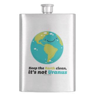 Frasco De Bebida Mantenha a terra limpa