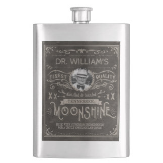 Frasco De Bebida Moonshine o costume Brown do vintage da medicina