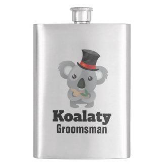 Frasco De Bebida Padrinho de casamento bonito de Koalaty da chalaça