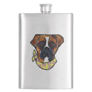 Frasco De Bebida Páscoa do cão do pugilista