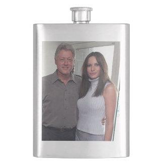 Frasco De Bebida Presidente Bill Clinton & trunfo de Melania