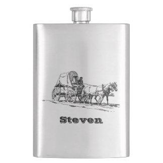 Frasco De Bebida Seu nome nesta garrafa do Stagecoach