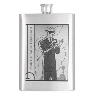 Frasco De Bebida Seu nome nesta garrafa ostentoso do cavalheiro