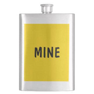 Frasco De Bebida Somente limão - cor sólida bonito amarela OSCB09