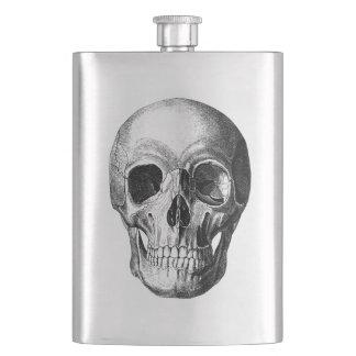 Frasco De Bebida Sorrindo a garrafa do quadril do crânio