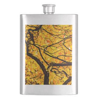 Frasco De Bebida Veias douradas do outono