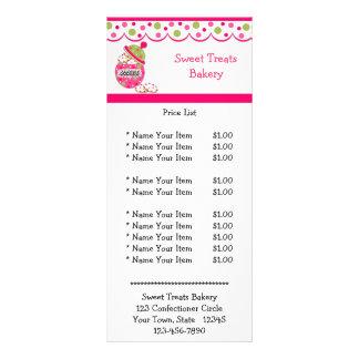 Frasco de biscoito cor-de-rosa 10.16 x 22.86cm panfleto