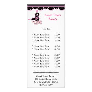 Frasco de biscoito preto e cor-de-rosa modelo de panfleto informativo
