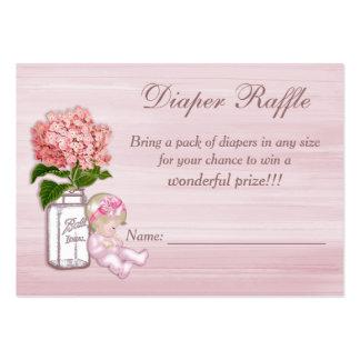 Frasco de pedreiro, bebé, Raffle cor-de-rosa da Cartão De Visita Grande