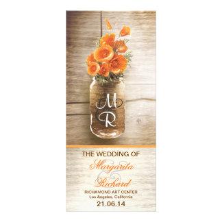 frasco de pedreiro com as flores alaranjadas que w panfletos informativos personalizados