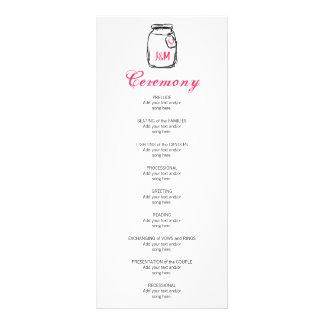 Frasco de pedreiro & programa cor-de-rosa do 10.16 x 22.86cm panfleto