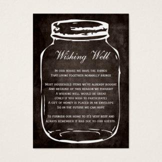 frasco de pedreiro rústico marrom que deseja cartão de visitas