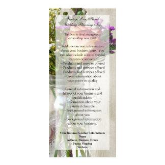 Frasco de pedreiro w/Rose e Wildflowers 10.16 X 22.86cm Panfleto