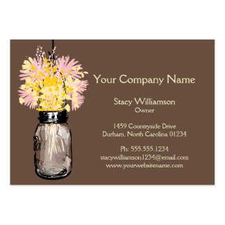 Frasco de pedreiro & Wildflowers Cartões De Visita
