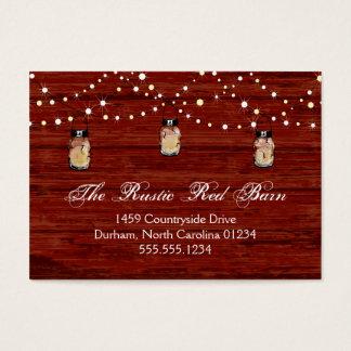 Frasco e luzes rústicos de pedreiro cartão de visitas