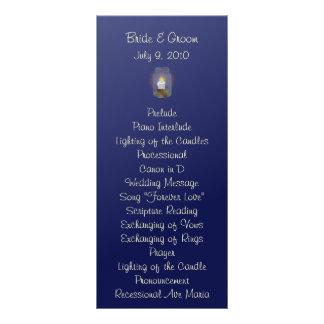 Frascos de pedreiro da vela que Wedding o cartão 10.16 X 22.86cm Panfleto