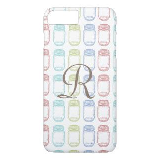 Frascos de pedreiro do azulejo em 4 cores capa iPhone 7 plus