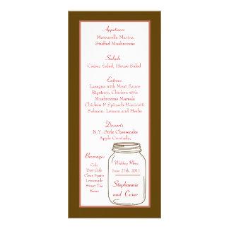 Frascos do rosa de 25 cartões do menu/pedreiro de  10.16 x 22.86cm panfleto