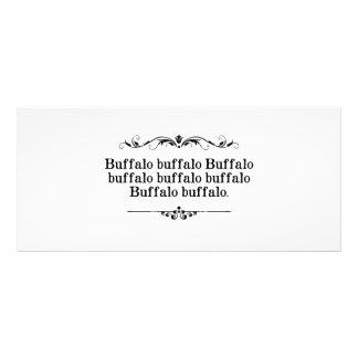 Frase do búfalo do búfalo 10.16 x 22.86cm panfleto