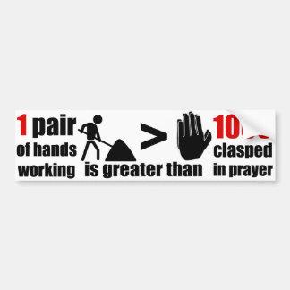 Frase do trabalho > da oração - autocolante no vid adesivo para carro